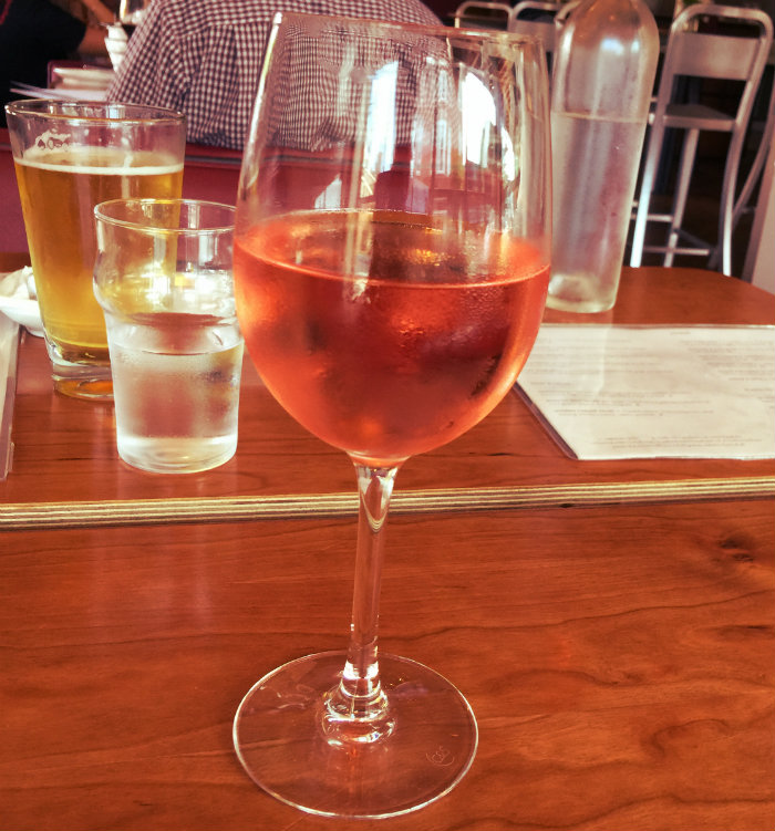 Rose wine at Kybecca