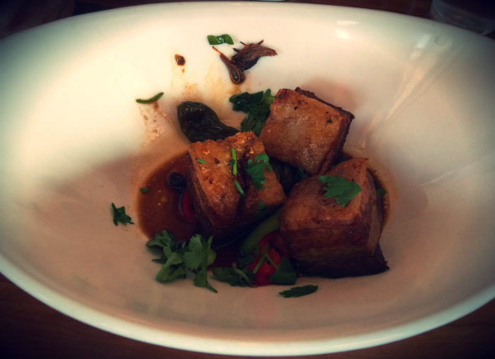 Pork Belly appetizer at Kybecca