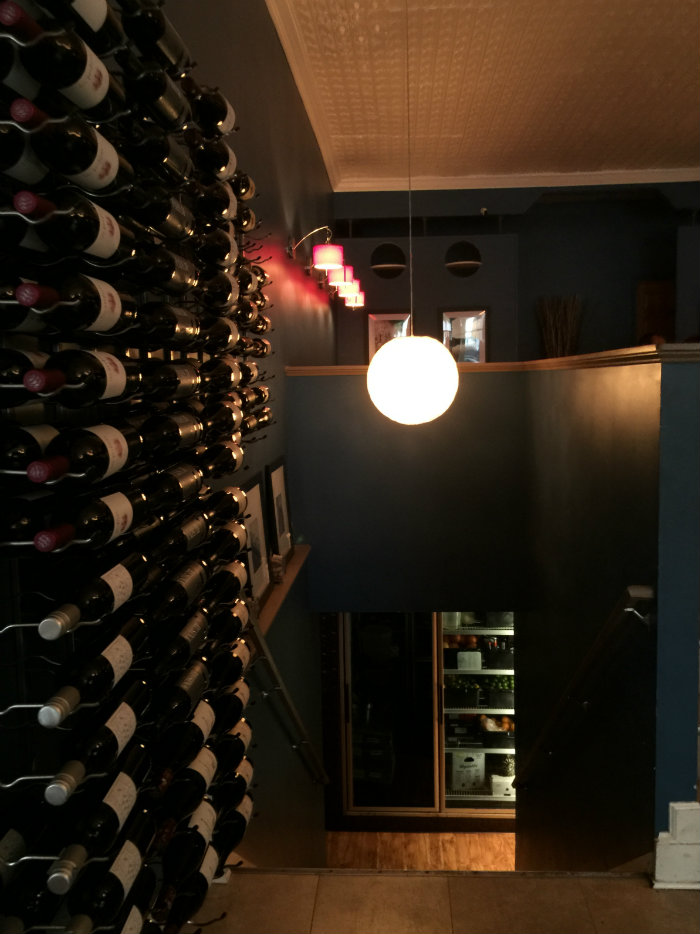 Wine wall at Kybecca